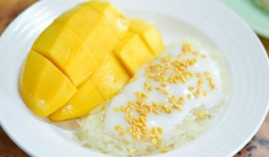 The traditional Mango Sticky Rice with Coconut Milk is to die for.